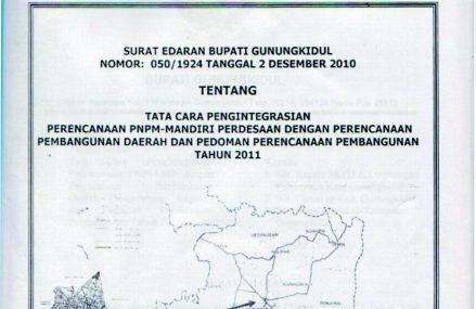 Surat Edaran Bupati Gunung Kidul 2011