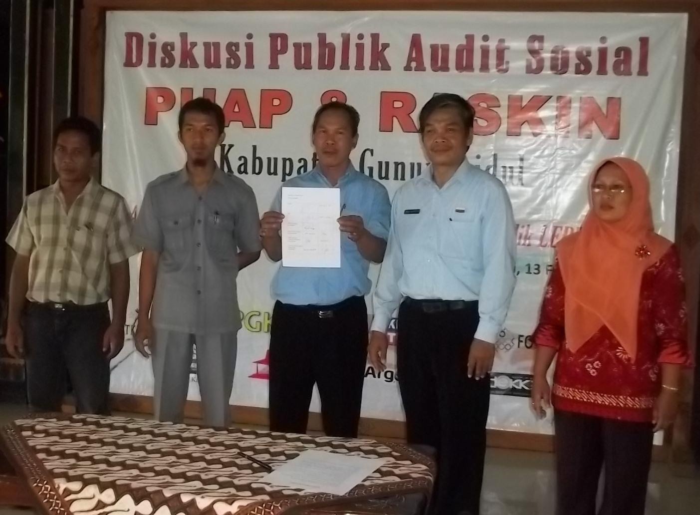 Diskusi Publik Audit Sosial PUAP dan RASKIN