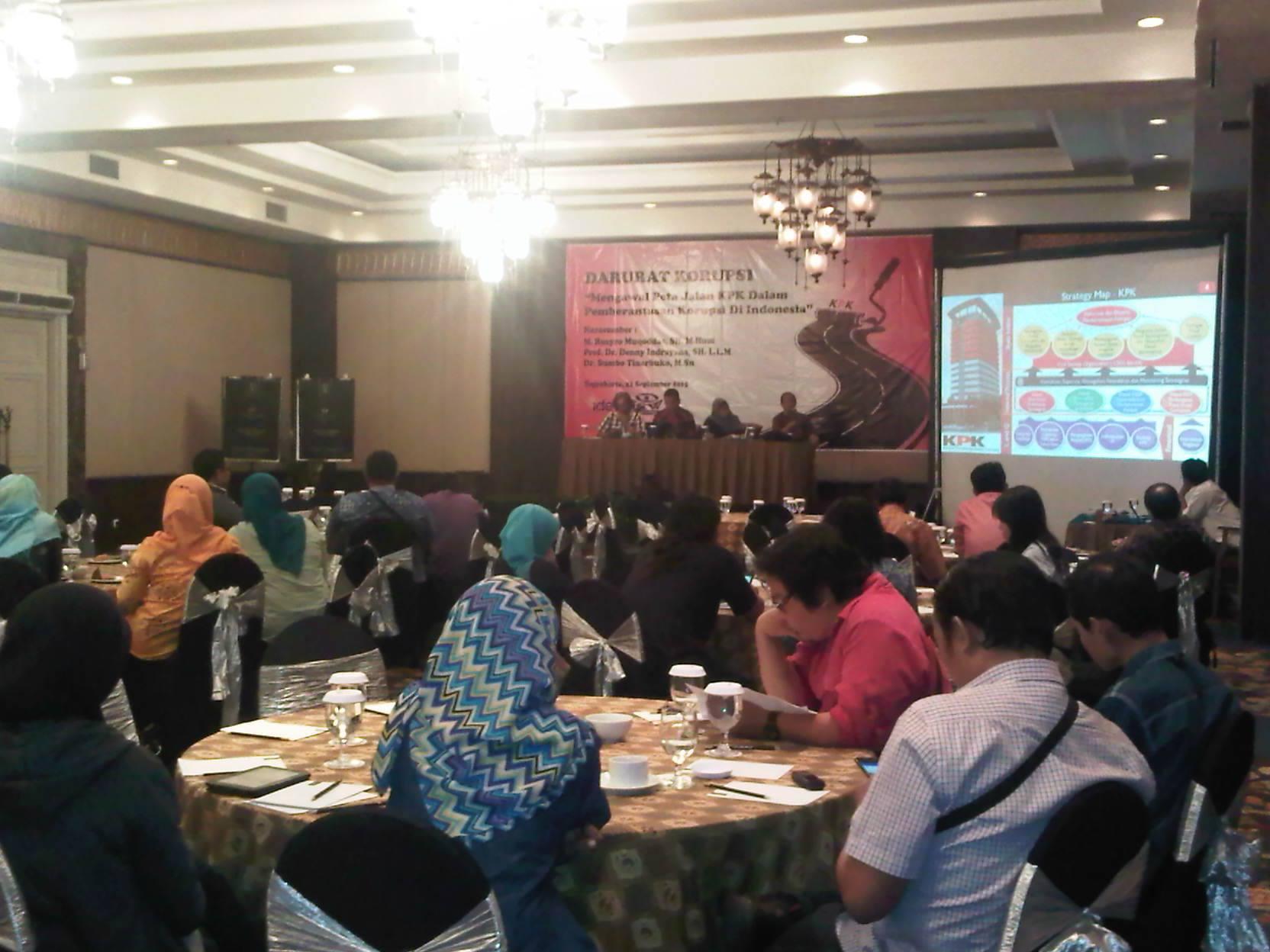 Diskusi Publik Darurat Korupsi
