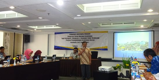 Evaluasi Program Sistem Informasi Kemiskinan, IDEA Gelar Workhsop Monitoring