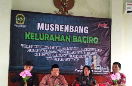 Kelurahan Baciro Laksanakan Musrenbangkel