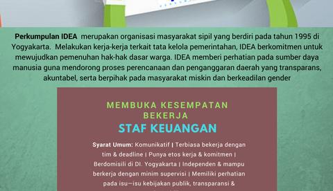 Lowongan Kerja Staff Keuangan IDEA Yogyakarta