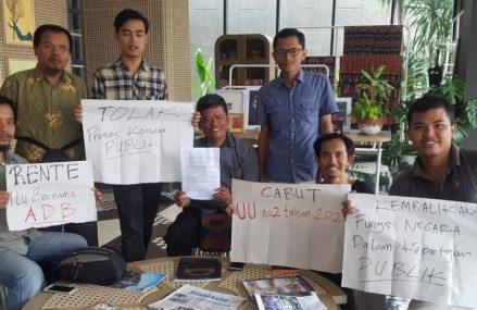 Aliansi Masyarakat Sipil Yogyakarta Tolak Forum Konsultasi Publik ADB
